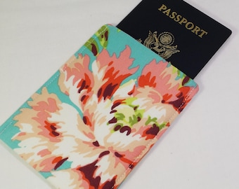 RFID Alum-Block Passport Sleeve Cover, Passport Protection, Stylish Fabric RFID Passport Holder, Nickel Free, RFID Shielding Aluminum Lining