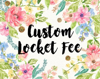 Add Your Personalized Quote - Custom Locket Fee - locket add on - please read instructions prior to ordering