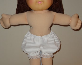 Short White Bloomers Panties for 16 inch Cabbage Patch Doll