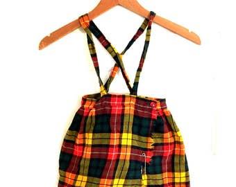 Vintage 3T Kilt. Teacher's Pet Kilt. Made in Canada. Union Made. Wool & Cotten Kilt. School Girl Skirt. Photo Shoot. Cute Vintage Toddler
