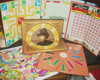 6 Vintage Game Boards Aggravation Monopoly Masterpiece Head of the Class Careers