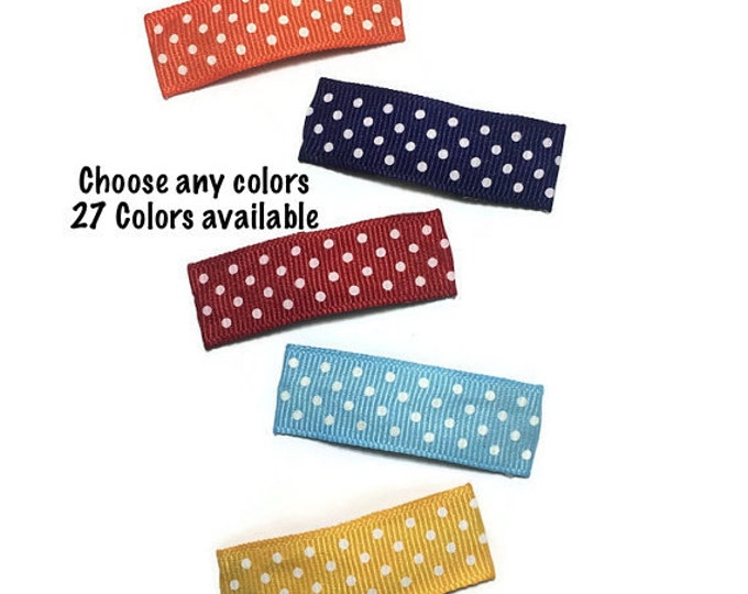 10- 50mm Swiss Dots Lined Snap Clips