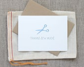 Thanks Sew Much: Sewing Scissors Thank You Note Set