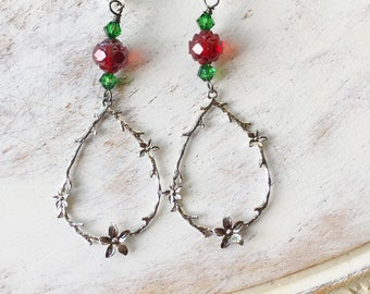 Snow White Fairytale Earrings by MinouBazaar