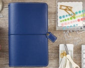 Navy Blue Travelers Webster's Pages Color Crush Travelers Planner Journal STANDARD Size • Free Washi Tape