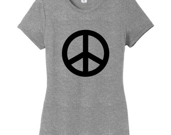 Peace Sign Women's Fitted T-Shirt