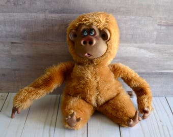 Vintage RUSS Rutherford III Monkey Ape Plush Thumb Sucking Stuffed Animal