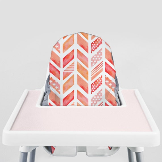 Watercolor Herringbone // IKEA Antilop Highchair Cover // High Chair Cover for the PYTTIG Cushion // Pillow Slipcover