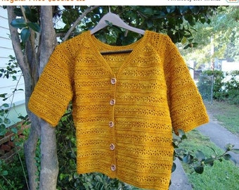 25% OFF Merino Wool Sweater, Cardigan, Saffron Yellow Cardigan, Merino Wool Cardigan, Crochet Cardigan, Women's Cardigan Sweaters, Available