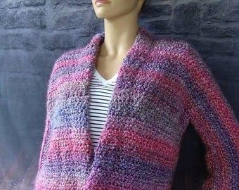 25% OFF Cozy Cardigan, Crochet Cardigan, Crochet Jacket, Crochet Coats, Crochet, Mixed Berries, Chunky Cardigan, Available in S/M, L/Xl, and
