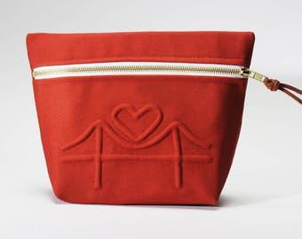 I Left My Heart Cosmetic Bag