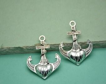 20pcs 38x28mm Anchor Antique Silver  Retro Pendant Charm For Jewelry Pendant