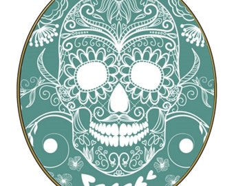 Skull Glass Brad-Gift Tag-Gift Card-Jewelry-T-Shirt-Digital Clipart-Holiday-Website-Banner-Notebook-Scrapbook.