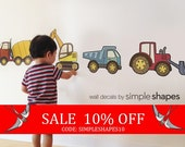 Sale - Construction Vehicle - Peel and Stick Repositionable Stickers