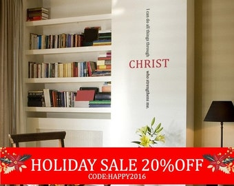 Christ Bible Quote Decal - Vinyl Wall Sticker
