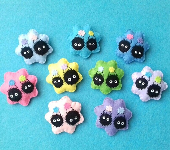 Susuwatari Pin In Colors To Choose Spirited Away By