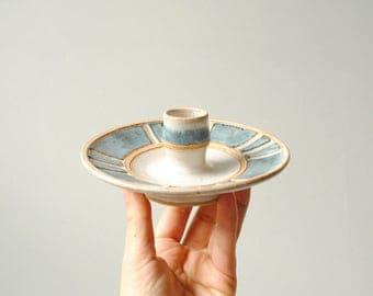 Vintage Candle Holder, Handmade Ceramic Candle Holder