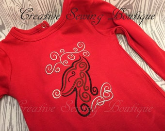 Onesie, Christmas reindeer onesie, Christmas reindeer shirt, snap-tee, snapsuit, bodysuit, or one-piece choice of size 3 months to 5T