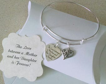 Mother Of The Bride Gift, The Love Between, Mother Of Groom, Mother Of Bride Groom, Mother In Law Bracelet, SUMMER SALE