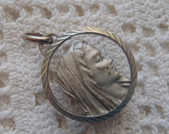 Vintage Medal Our Lady of Lourdes Reliquary France