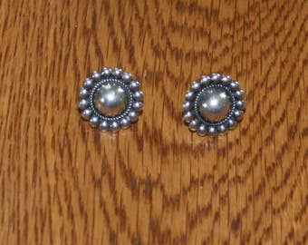 Sterling Concho Post  Earring plus free USA Shipping!