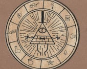 Bill Cipher Zodiac Patch - Gravity Falls