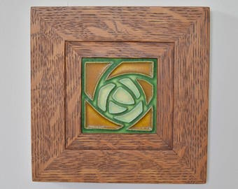 """Rowe frame with 4"""" x 4"""" Motawi tile"""