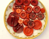 Red Button Lot, Sets, Supply, Jewelry Making, Craft, Destash