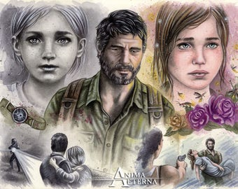 """Baby Girl - The Last Of Us Traditional Art Watercolor Painting - Photo Print 20x30cm (7.9"""" x 11.8"""") - Hand Signed"""