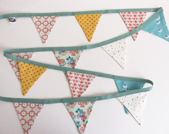 Whimsical Fabric Bunting Flag Banner