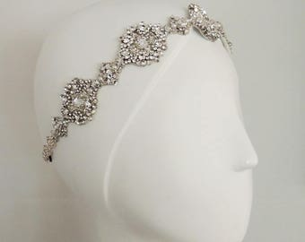 Vintage inpired Wedding headpiece,Rhinestone Headband, Wedding Headband, Bridal, Bridal Headpiece, Свадебные аксессуары для волос