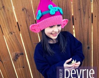 DIGITAL Download, Poppy Troll Hat, KNITTING PATTERN, Knit hat pattern, Poppy Hat, Troll Hat, Hat Pattern, Knit Hat