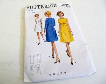 Butterick 4076 Vintage Dress Pattern Size 14 Bust 34
