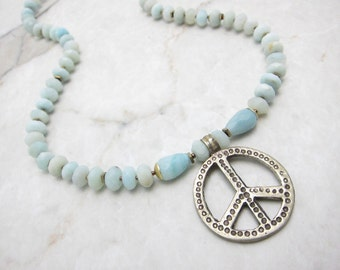 Peace Sign Necklace. Hippie Necklace. Peace Symbol Necklace. Peace Pendant. Hippie Peace Sign. Peace Symbol Pendant. TaraLynEvans. PEACEY