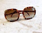 Vintage Ted Lapidus Paris Sunglasses / Tortoise / Gold