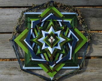 Autumn on the Big Bald, an 18 inch, 8-sided Mandala by Elizabeth Tingley