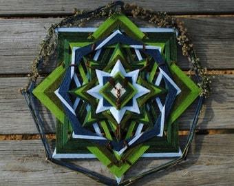 Autumn on the Big Bald, an 18 inch, 8-sided Mandala by custom order