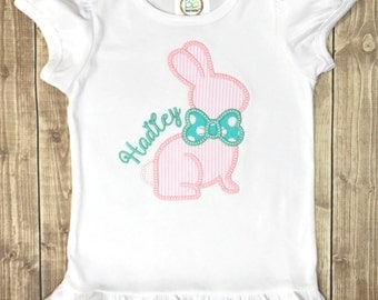 Girls Easter Shirt, Custom Easter Shirt, Easter Shirt,  Easter Bunny Shirt, Girls Easter Bunny Shirt, Girls Spring Shirt, Spring Bunny Shirt