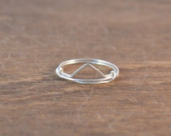 Pyramid Stackable Ring - 925 Sterling Silver