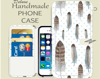 feather phone case magnetic closure