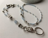 Blue Sky Airplane Lanyard great for flight crew and airport staff