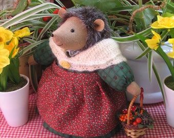 TIGGY  Hedgehog Storybook doll