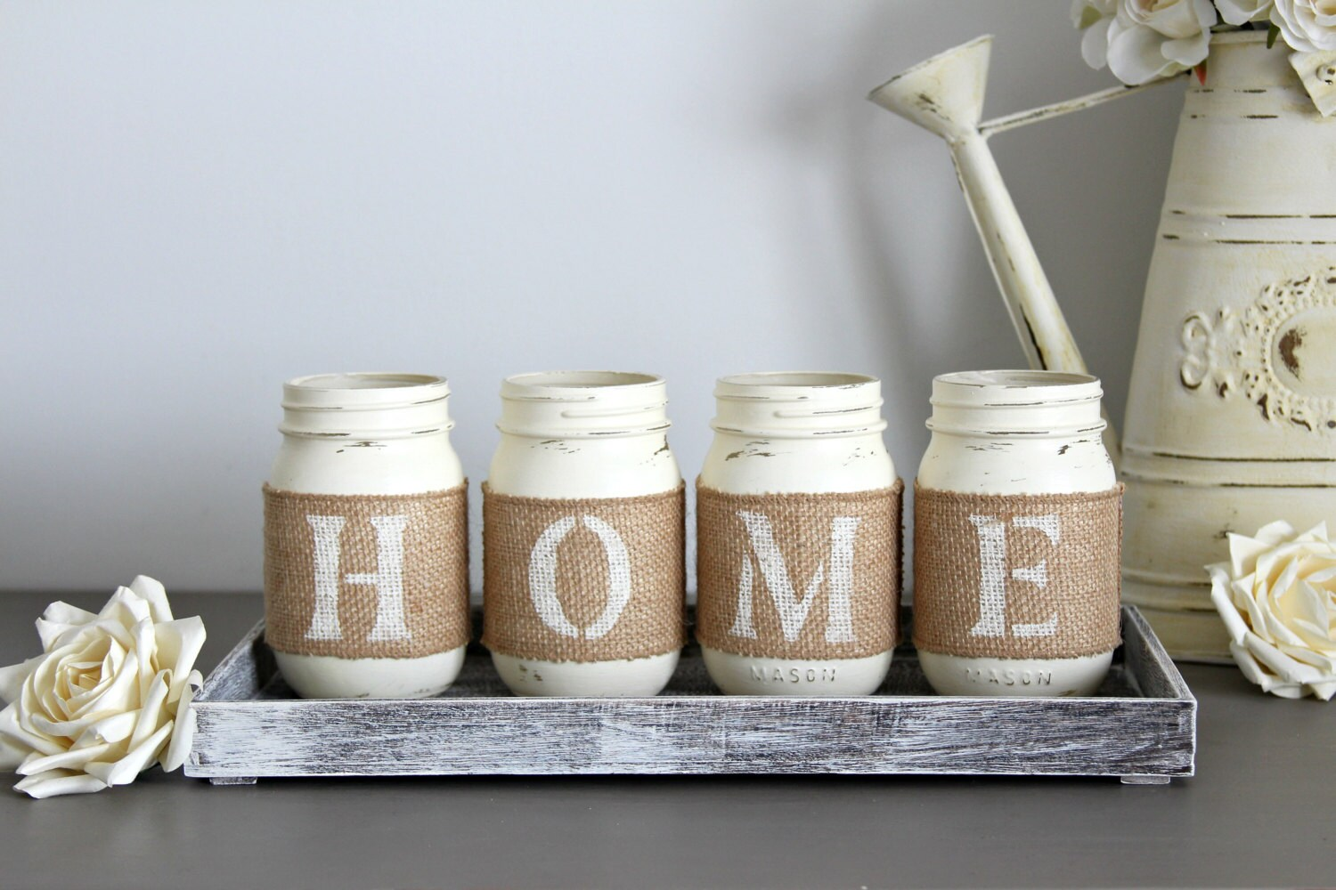 Kitchen Table Centerpiece-Rustic Table Decor-Rustic Home