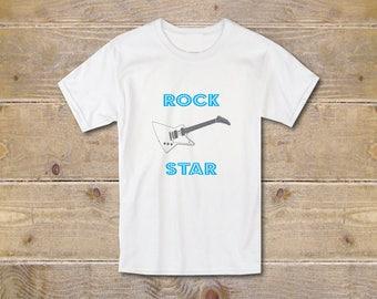 Boy's Shirt, Cool Tee, Cool T Shirt, Rock Star Tee, Guitar, Summer Shirt, Boy's Youth, Trendy, Graphic T-Shirt, Graphic Tee, Kids, Toddler