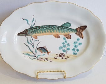Vintage Mid Century Retro Decorative Fish Platter To Display or Use