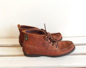 Vintage brown leather booties, eastlands, mens shoes size 10 D