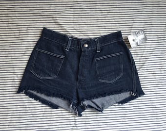 70s Cut Off Shorts / BIG YANK Denim / Jean Shorts / Hot Pants / Cheeky / Daisy Dukes / Short Shorts / Hipster / Size Medium med md 2-4