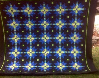 Striking queen quilt
