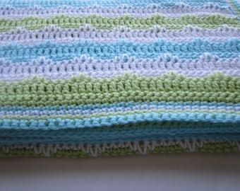Easy Crochet Blanket Pattern, Spike Stitch Crochet Afghan Pattern, Long Single Crochet, Christening Afghan, Instructions to make it ANY size