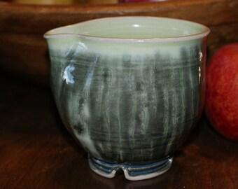 Ceramic Creamer, Gravy Boat, Small Pourer /  Shades of Green